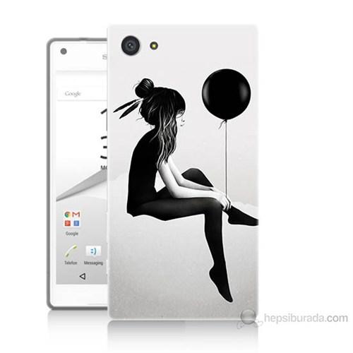 Teknomeg Sony Xperia Z5 Premium Balonlu Kız Baskılı Silikon Kılıf