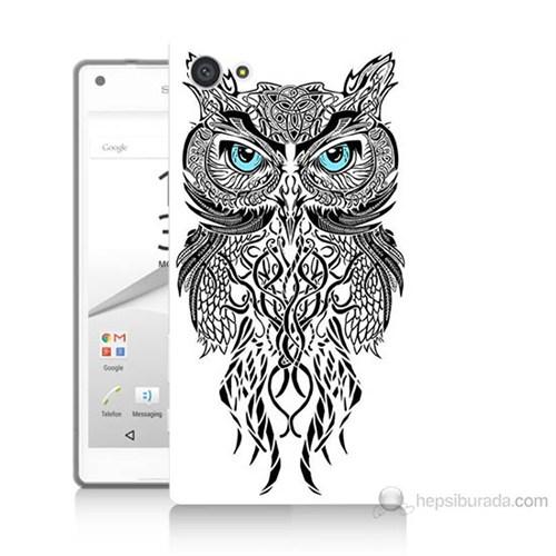 Teknomeg Sony Xperia Z5 Premium Örgülü Baykuş Baskılı Silikon Kılıf