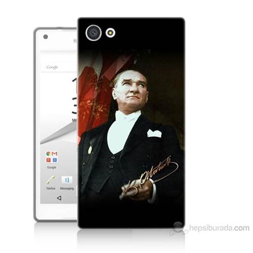 Teknomeg Sony Xperia Z5 Premium M.K.Atatürk Baskılı Silikon Kılıf