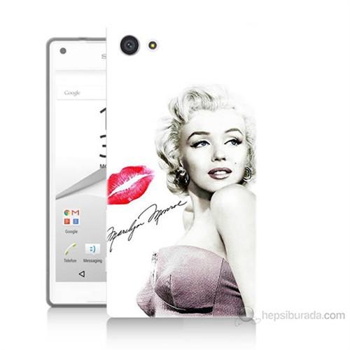 Teknomeg Sony Xperia Z5 Premium Marilyn Monroe Baskılı Silikon Kılıf