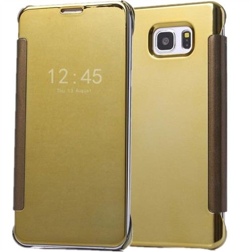 Ally Samsung Galaxy S6 Edge Plus Şeffaf Ön Kapaklı Pencereli Aynalı Kılıf