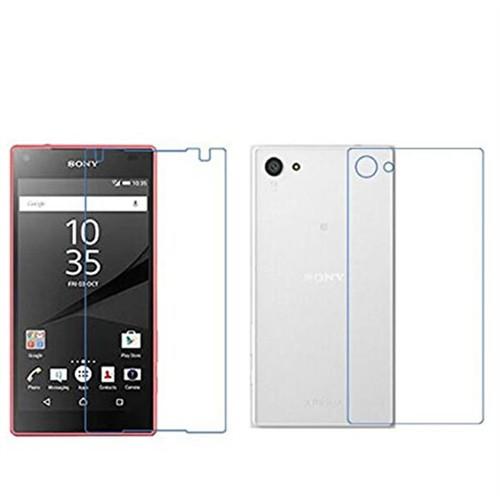Ally Sony Xperia Z5 Mini Compact Kırılmaz Ön Ve Arka Cam Ekran Koruyucu