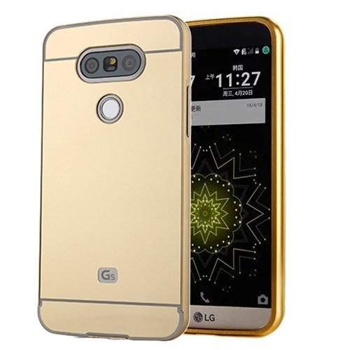 Microsonic Lg G5 Kılıf Luxury Mirror Gold
