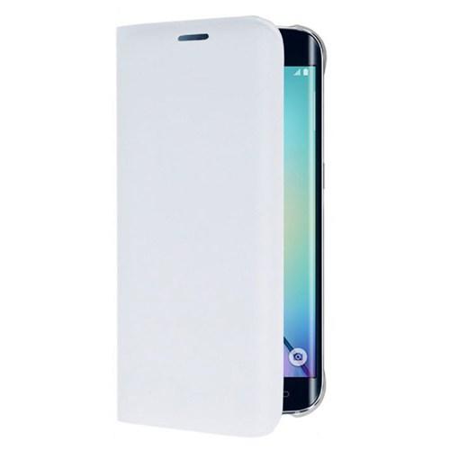 Cepsesuar Samsung Galaxy S6 Edge Kılıf Flip Cover Beyaz