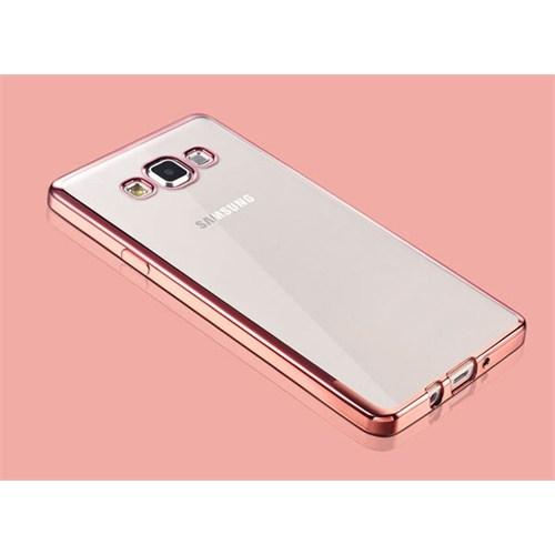 Cepsesuar Samsung Galaxy A7 Kılıf Silikon Lazer Pembe