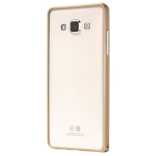 Cepsesuar Samsung Galaxy A7 Kılıf Bumper Gold