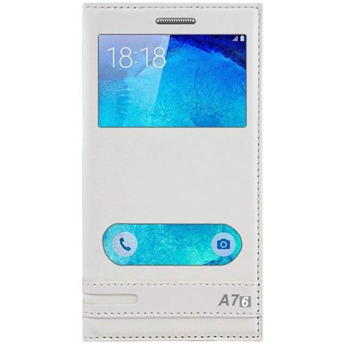 Cepsesuar Samsung Galaxy A7 2016 Kılıf Elite Pencereli Beyaz