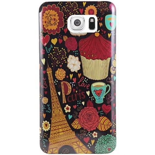 Cepsesuar Samsung Galaxy S6 Kılıf Silikon Desenli Paris