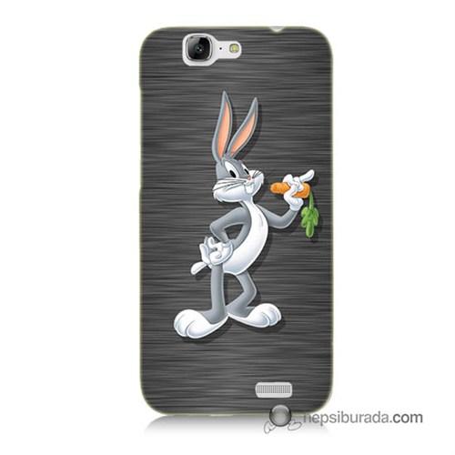 Teknomeg Huawei G7 Kapak Kılıf Bugs Bunny Baskılı Silikon