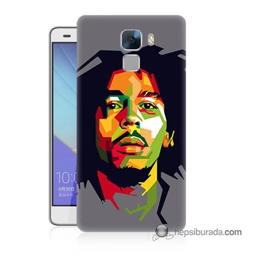 Teknomeg Huawei Honor 7 Kapak Kılıf Bob Marley Baskılı Silikon