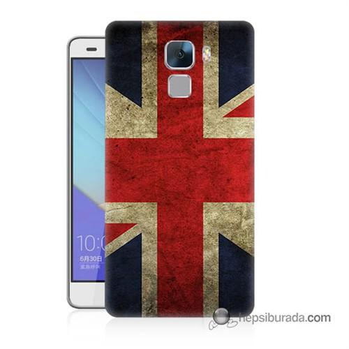 Teknomeg Huawei Honor 7 Kapak Kılıf İngiltere Bayrağı Baskılı Silikon