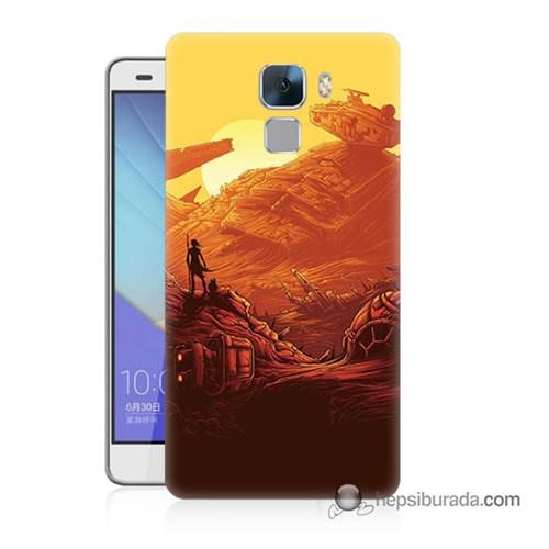 Teknomeg Huawei Honor 7 Kapak Kılıf Star Wars 7 Baskılı Silikon