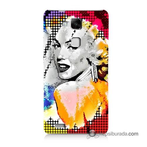 Teknomeg Huawei Mate 7 Kapak Kılıf Marilyn Monroe Baskılı Silikon
