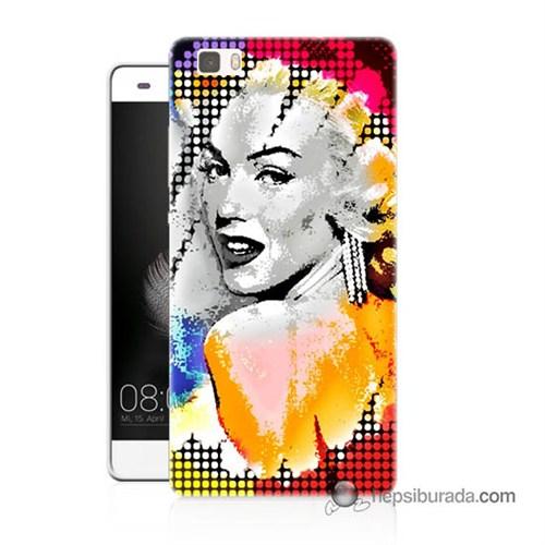Teknomeg Huawei P8 Lite Kapak Kılıf Marilyn Monroe Baskılı Silikon