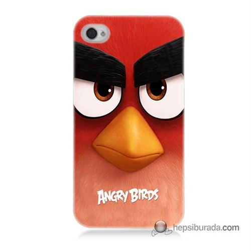 Teknomeg İphone 4 Kapak Kılıf Angry Birds Baskılı Silikon