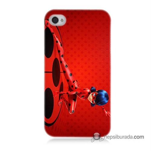 Teknomeg İphone 4 Kapak Kılıf Sevimli Kahraman Baskılı Silikon