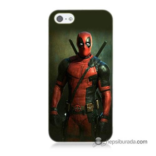Teknomeg İphone 5 Kapak Kılıf Deadpool Baskılı Silikon