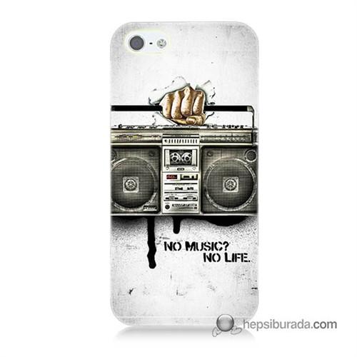 Teknomeg İphone 5S Kapak Kılıf Müzik Hayattır Baskılı Silikon