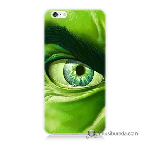 Teknomeg İphone 6S Kapak Kılıf Hulk Yeşil Dev Baskılı Silikon