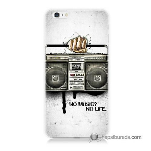 Teknomeg İphone 6 Plus Kapak Kılıf Müzik Hayattır Baskılı Silikon