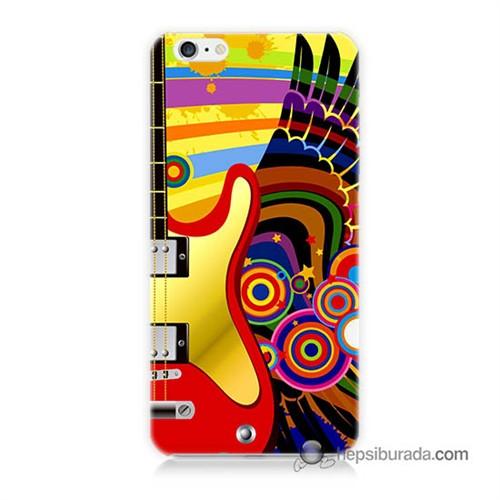 Teknomeg İphone 6 Plus Kapak Kılıf Renkli Gitar Baskılı Silikon