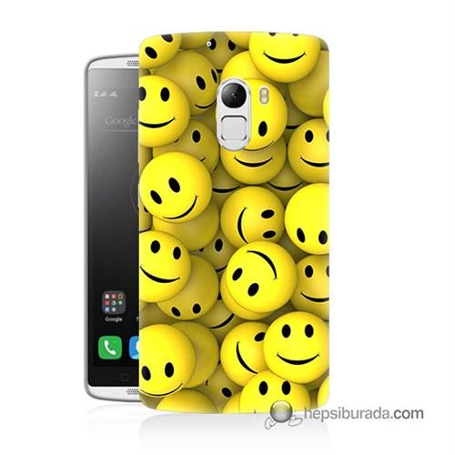 Teknomeg Lenovo A7010 Kapak Kılıf Smile Baskılı Silikon