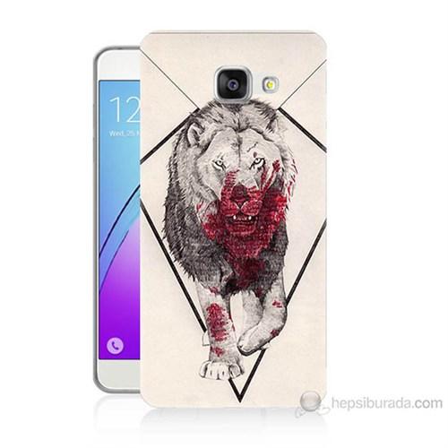 Teknomeg Samsung Galaxy A3 2016 Kapak Kılıf Kanlı Aslan Baskılı Silikon