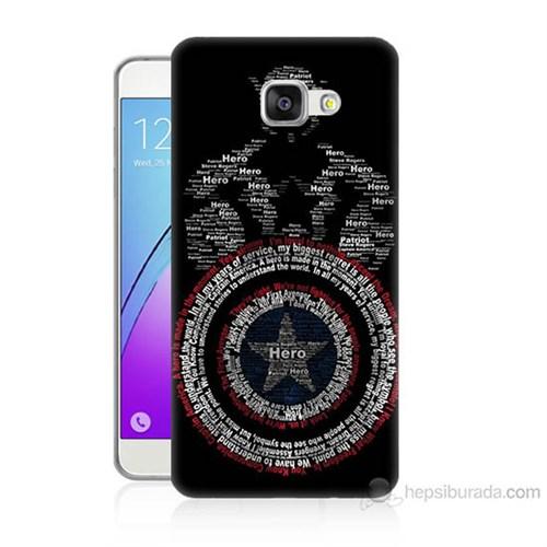 Teknomeg Samsung Galaxy A3 2016 Kapak Kılıf Kaptan Amerika Baskılı Silikon
