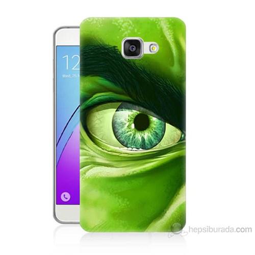 Teknomeg Samsung Galaxy A3 2016 Kapak Kılıf Hulk Yeşil Dev Baskılı Silikon