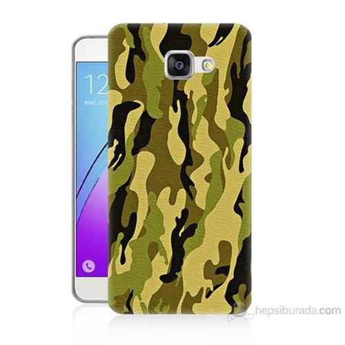 Teknomeg Samsung Galaxy A5 2016 Kapak Kılıf Kamufulaj Baskılı Silikon