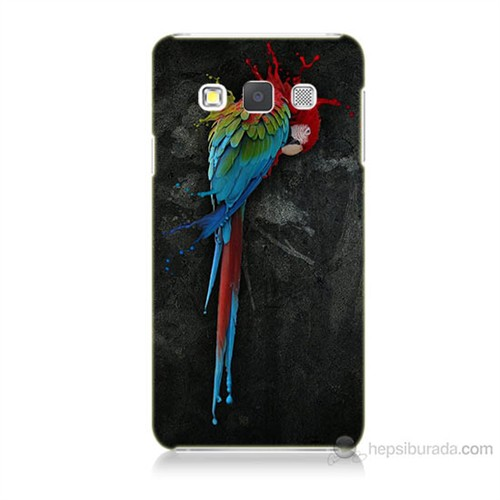 Teknomeg Samsung Galaxy A7 Kapak Kılıf Papağan Baskılı Silikon