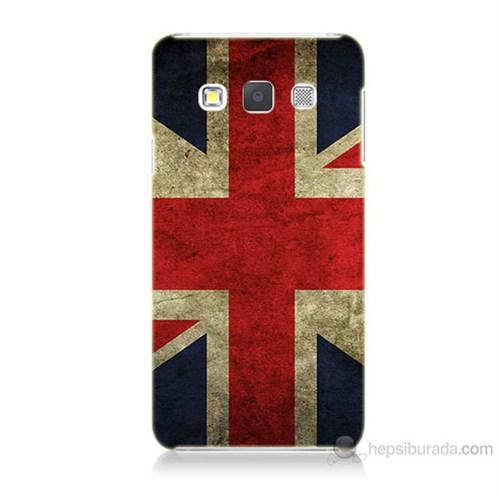 Teknomeg Samsung Galaxy A3 Kapak Kılıf İngiltere Bayrağı Baskılı Silikon
