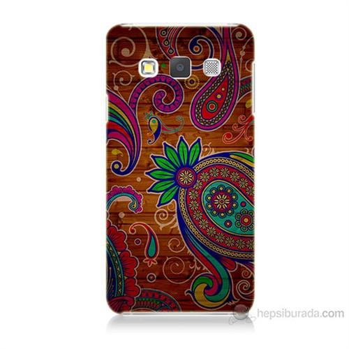 Teknomeg Samsung Galaxy A3 Kapak Kılıf Çiçek Deseni Baskılı Silikon