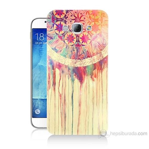 Teknomeg Samsung Galaxy A8 Kapak Kılıf Dream Catcher Baskılı Silikon