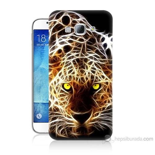 Teknomeg Samsung Galaxy A8 Kapak Kılıf Yanan Aslan Baskılı Silikon