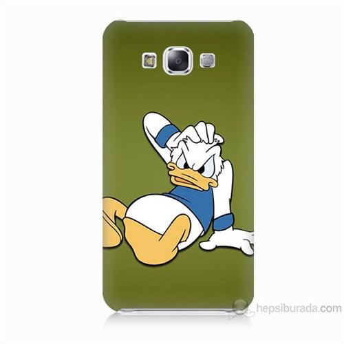 Teknomeg Samsung Galaxy E7 Kapak Kılıf Donald Dock Baskılı Silikon