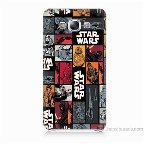Teknomeg Samsung Galaxy E7 Kapak Kılıf Star Wars Baskılı Silikon