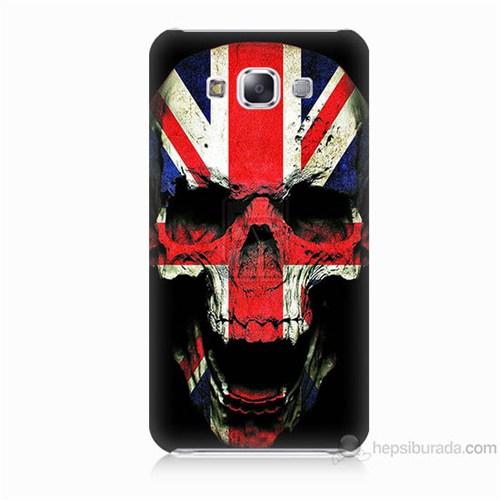 Teknomeg Samsung Galaxy E7 Kapak Kılıf İngiltere Baskılı Silikon