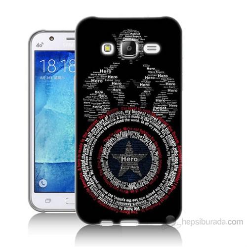 Teknomeg Samsung Galaxy J7 Kapak Kılıf Kaptan Amerika Baskılı Silikon