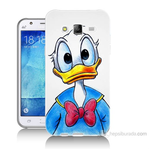 Teknomeg Samsung Galaxy J7 Kapak Kılıf Donald Duck Baskılı Silikon