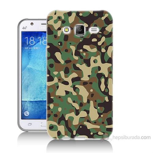 Teknomeg Samsung Galaxy J7 Kapak Kılıf Askeri Kamuflaj Baskılı Silikon