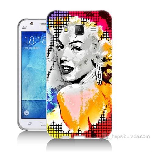 Teknomeg Samsung Galaxy J7 Kapak Kılıf Marilyn Monroe Baskılı Silikon