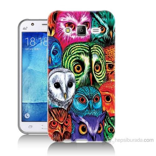 Teknomeg Samsung Galaxy J5 Kapak Kılıf Baykuşlar Baskılı Silikon