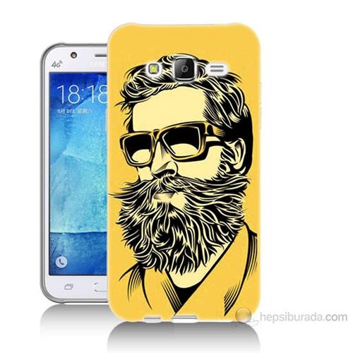 Teknomeg Samsung Galaxy J5 Kapak Kılıf Mustache Baskılı Silikon