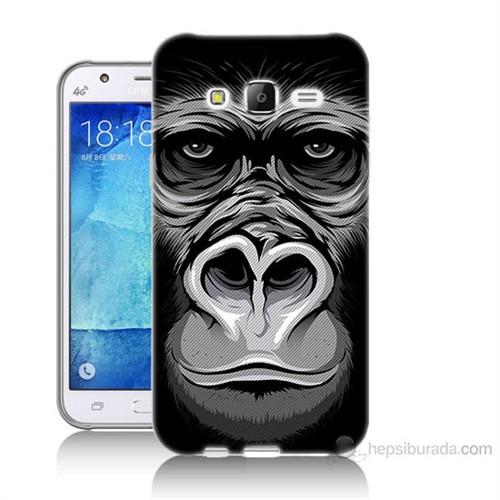 Teknomeg Samsung Galaxy J5 Kapak Kılıf Goril Baskılı Silikon