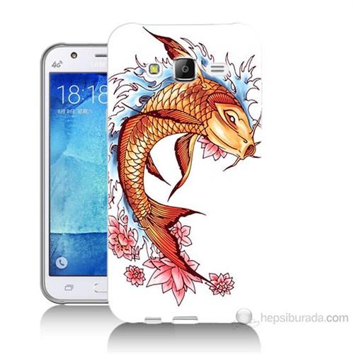 Teknomeg Samsung Galaxy J5 Kapak Kılıf Balık Baskılı Silikon