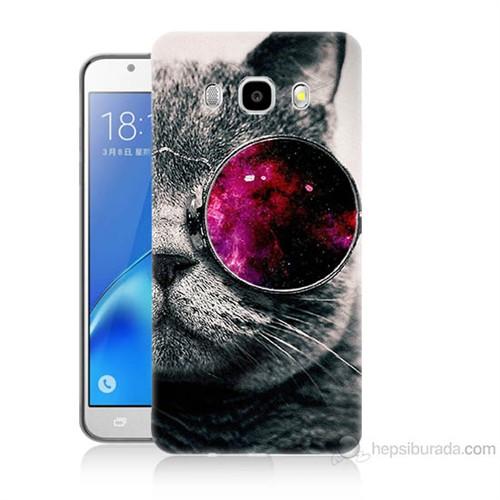 Teknomeg Samsung Galaxy J5 2016 Kapak Kılıf Kedi Baskılı Silikon