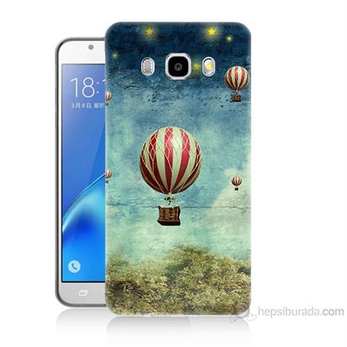 Teknomeg Samsung Galaxy J5 2016 Kapak Kılıf Uçan Balon Baskılı Silikon