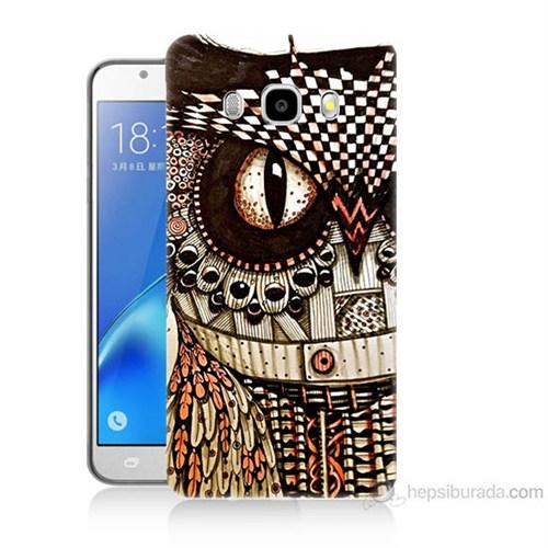 Teknomeg Samsung Galaxy J5 2016 Kapak Kılıf Baykuş Baskılı Silikon