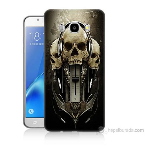 Teknomeg Samsung Galaxy J7 2016 Kapak Kılıf İskeletler Baskılı Silikon